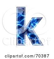 Blue Electric Symbol Lowercase K