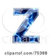 Blue Electric Symbol Capital Z