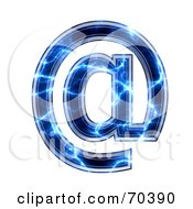 Royalty Free RF Clipart Illustration Of A Blue Electric Symbol Arobase by chrisroll