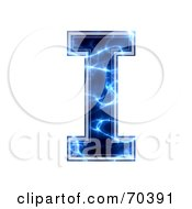 Blue Electric Symbol Capital I by chrisroll