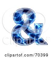 Royalty Free RF Clipart Illustration Of A Blue Electric Symbol Ampersand by chrisroll