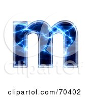 Blue Electric Symbol Lowercase M