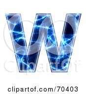 Blue Electric Symbol Capital W