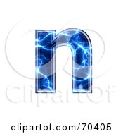 Blue Electric Symbol Lowercase N