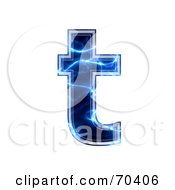 Blue Electric Symbol Lowercase T
