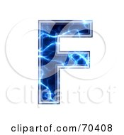 Blue Electric Symbol Capital F