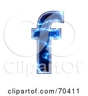 Royalty Free RF Clipart Illustration Of A Blue Electric Symbol Lowercase F
