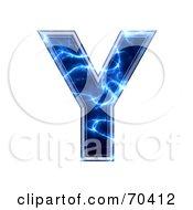 Blue Electric Symbol Capital Y by chrisroll