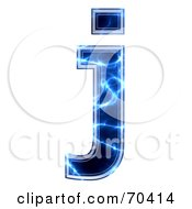 Blue Electric Symbol Lowercase J