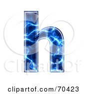 Royalty Free RF Clipart Illustration Of A Blue Electric Symbol Lowercase H