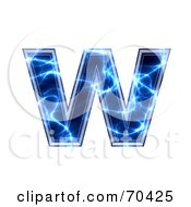 Blue Electric Symbol Lowercase W