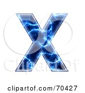 Blue Electric Symbol Capital X
