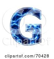 Blue Electric Symbol Capital G by chrisroll