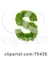 Royalty Free RF Clipart Illustration Of A Grassy 3d Green Symbol Capital S