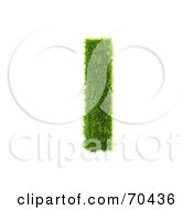 Royalty Free RF Clipart Illustration Of A Grassy 3d Green Symbol Capital I