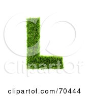 Royalty Free RF Clipart Illustration Of A Grassy 3d Green Symbol Capital L