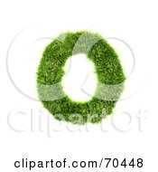 Royalty Free RF Clipart Illustration Of A Grassy 3d Green Symbol Capital O