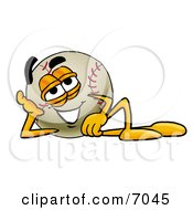 Baseball Mascot Cartoon Character Resting His Head On His Hand by Toons4Biz