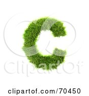 Royalty Free RF Clipart Illustration Of A Grassy 3d Green Symbol Capital C