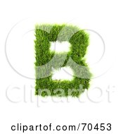 Royalty Free RF Clipart Illustration Of A Grassy 3d Green Symbol Capital B