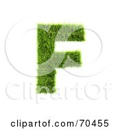 Grassy 3d Green Symbol Capital F by chrisroll