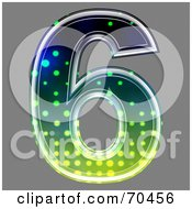Royalty Free RF Clipart Illustration Of A Halftone Symbol Number 6 by chrisroll