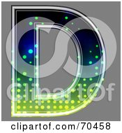 Royalty Free RF Clipart Illustration Of A Halftone Symbol Capital D by chrisroll