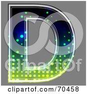 Royalty Free RF Clipart Illustration Of A Halftone Symbol Capital D by chrisroll