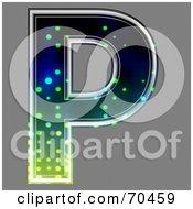 Royalty Free RF Clipart Illustration Of A Halftone Symbol Capital P