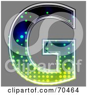 Royalty Free RF Clipart Illustration Of A Halftone Symbol Capital G by chrisroll