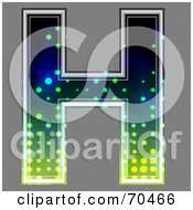 Royalty Free RF Clipart Illustration Of A Halftone Symbol Capital H by chrisroll