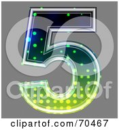 Royalty Free RF Clipart Illustration Of A Halftone Symbol Number 5 by chrisroll