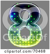 Royalty Free RF Clipart Illustration Of A Halftone Symbol Number 8 by chrisroll