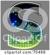 Royalty Free RF Clipart Illustration Of A Halftone Symbol Capital S by chrisroll