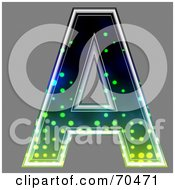 Royalty Free RF Clipart Illustration Of A Halftone Symbol Capital A