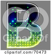 Royalty Free RF Clipart Illustration Of A Halftone Symbol Capital B by chrisroll