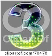 Royalty Free RF Clipart Illustration Of A Halftone Symbol Number 3