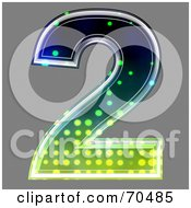 Royalty Free RF Clipart Illustration Of A Halftone Symbol Number 2 by chrisroll