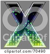 Halftone Symbol Capital X