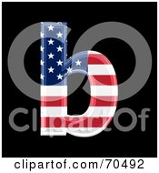 Royalty Free RF Clipart Illustration Of An American Symbol Lowercase B by chrisroll