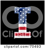 Royalty Free RF Clipart Illustration Of An American Symbol Capital I by chrisroll