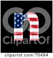 Royalty Free RF Clipart Illustration Of An American Symbol Lowercase N by chrisroll