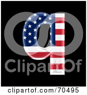 Royalty Free RF Clipart Illustration Of An American Symbol Lowercase Q by chrisroll