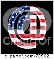 Royalty Free RF Clipart Illustration Of An American Symbol Arobase by chrisroll
