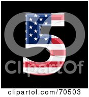 Royalty Free RF Clipart Illustration Of An American Symbol Number 5 by chrisroll