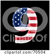 Royalty Free RF Clipart Illustration Of An American Symbol Number 9 by chrisroll