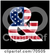 Royalty Free RF Clipart Illustration Of An American Symbol Ampersand