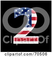Royalty Free RF Clipart Illustration Of An American Symbol Number 2