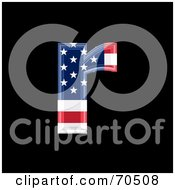 Royalty Free RF Clipart Illustration Of An American Symbol Lowercase R by chrisroll