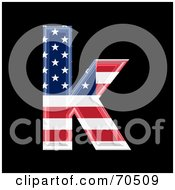 Royalty Free RF Clipart Illustration Of An American Symbol Lowercase K by chrisroll